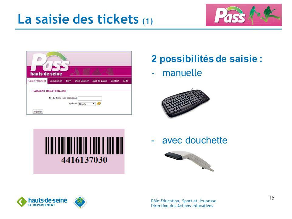 La saisie des tickets (1)