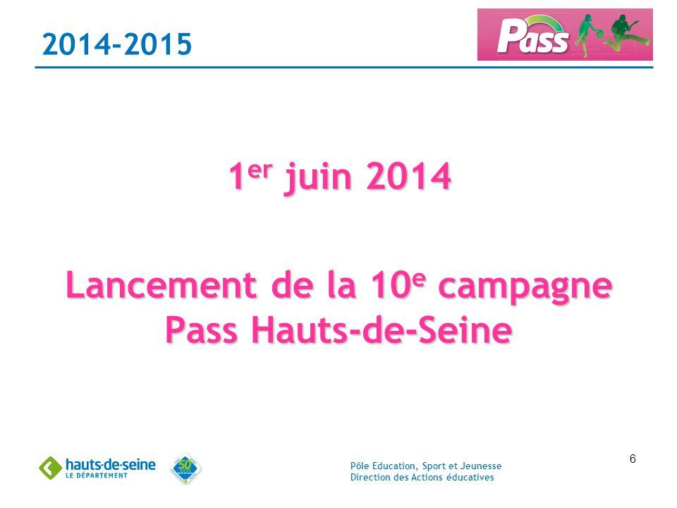 Lancement de la 10e campagne Pass Hauts-de-Seine