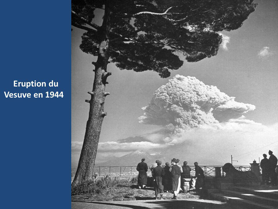 Eruption du Vesuve en 1944