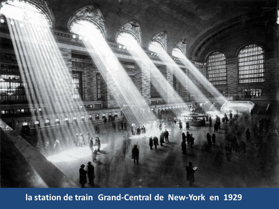 Grand-Central de New-York en 1929 la station de train
