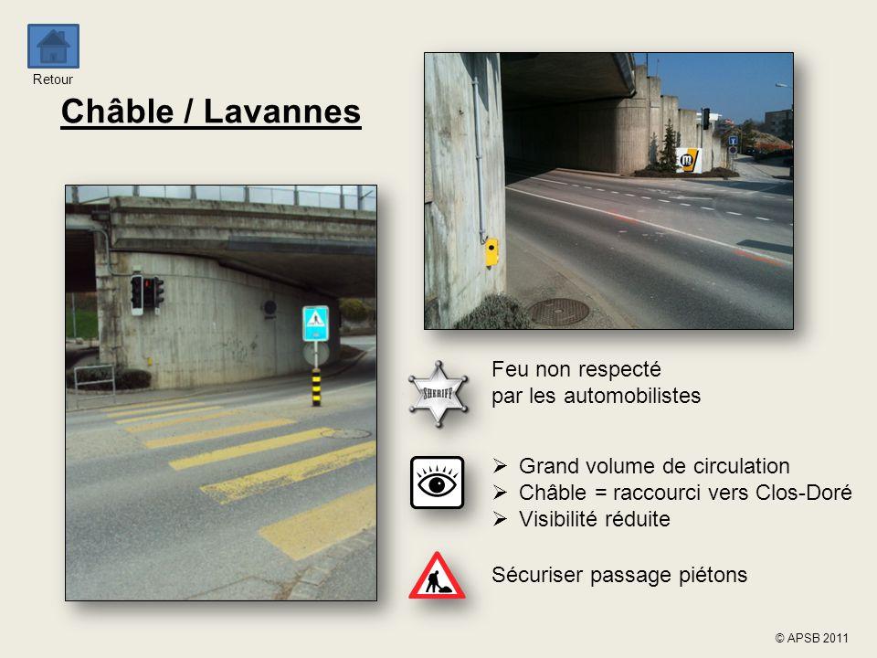 Châble / Lavannes Feu non respecté par les automobilistes