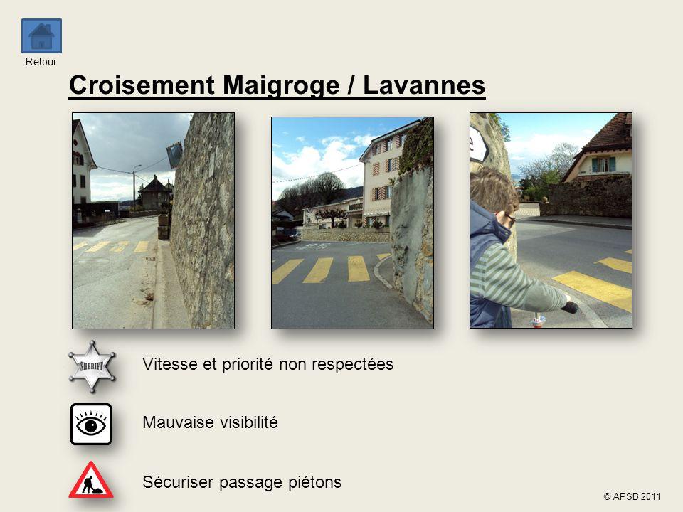 Croisement Maigroge / Lavannes