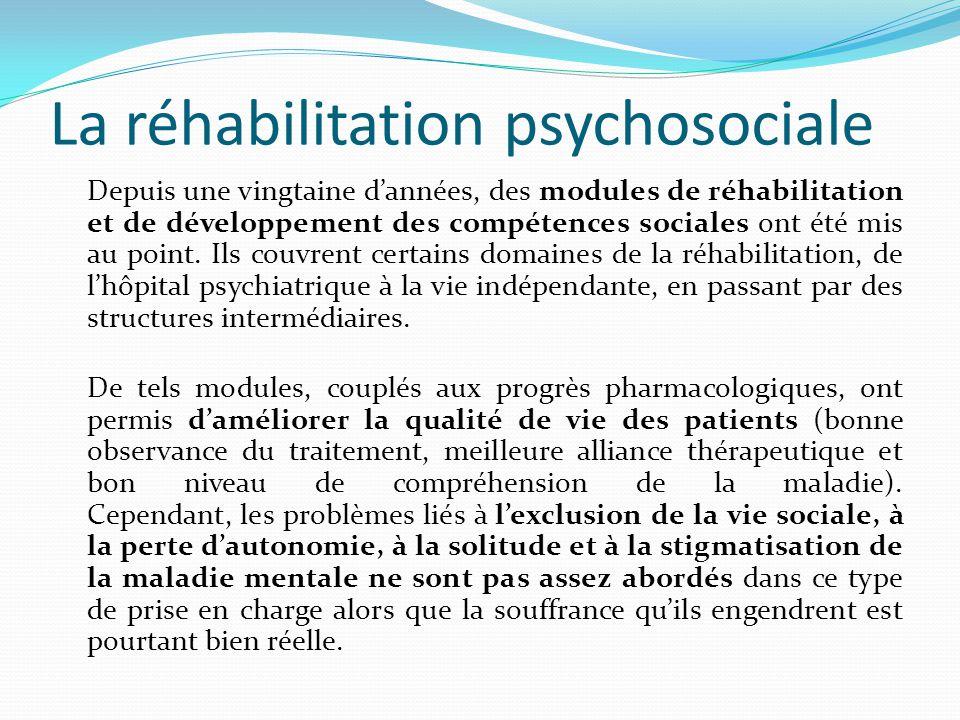 La réhabilitation psychosociale