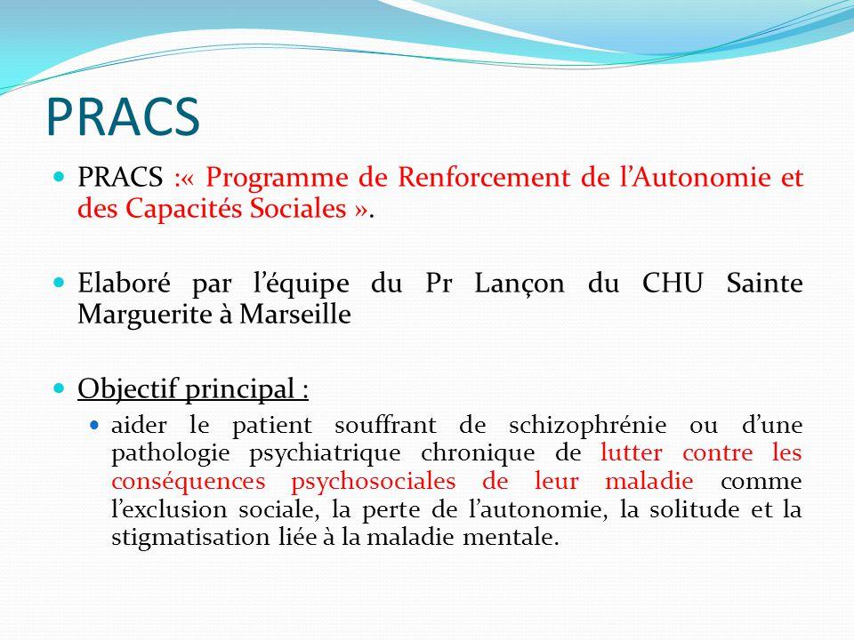 PRACS PRACS :« Programme de Renforcement de l'Autonomie et des Capacités Sociales ».