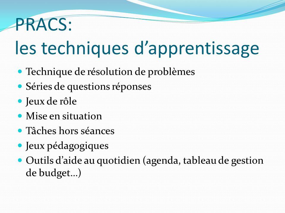 PRACS: les techniques d'apprentissage