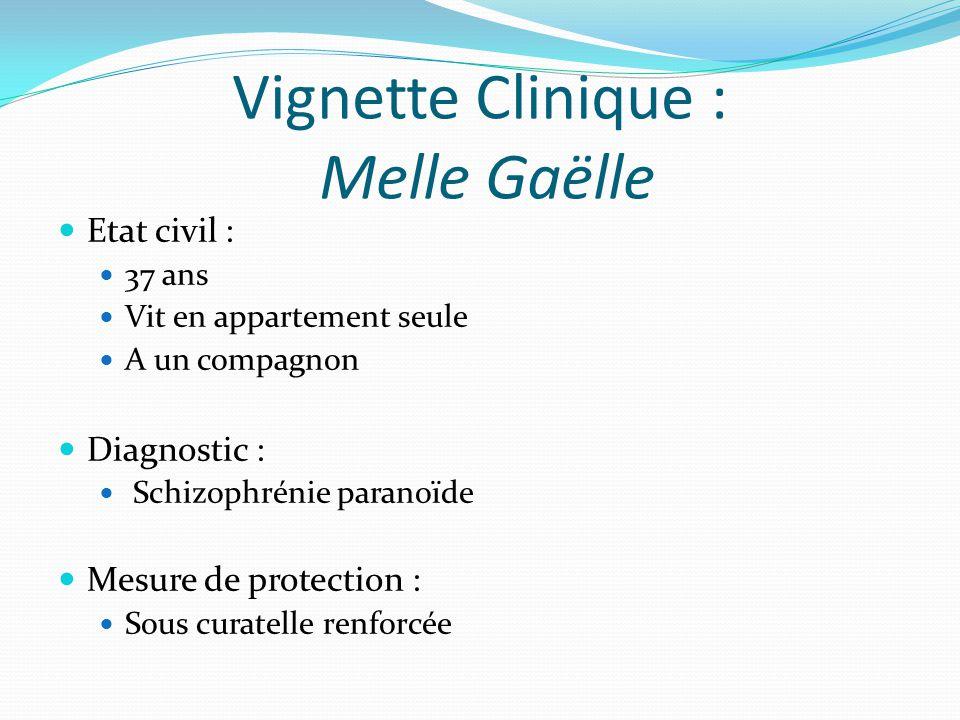 Vignette Clinique : Melle Gaëlle