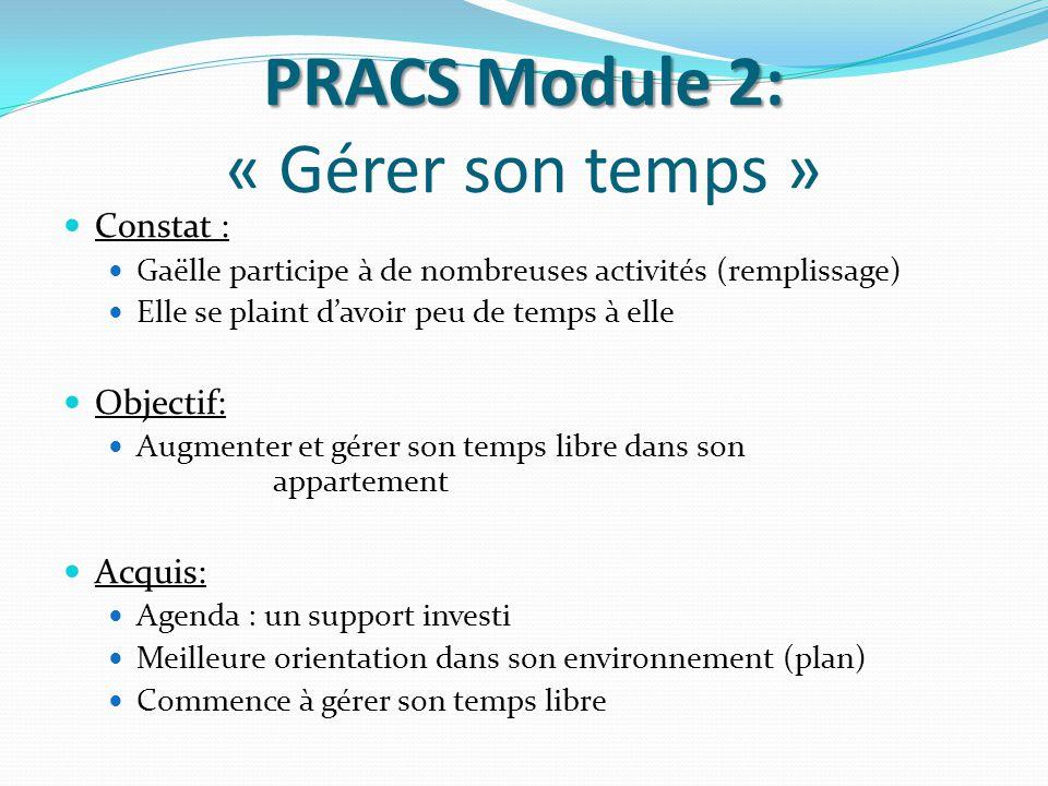 PRACS Module 2: « Gérer son temps »