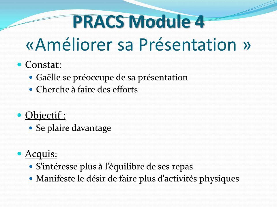 PRACS Module 4 «Améliorer sa Présentation »