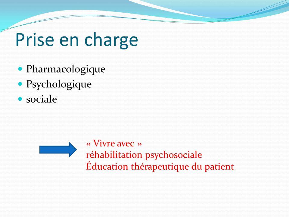 Prise en charge Pharmacologique Psychologique sociale « Vivre avec »