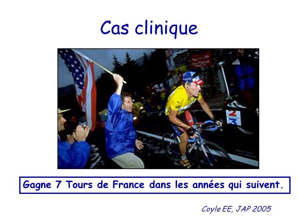 Cas clinique Gagne 7 Tours de France dans les années qui suivent.