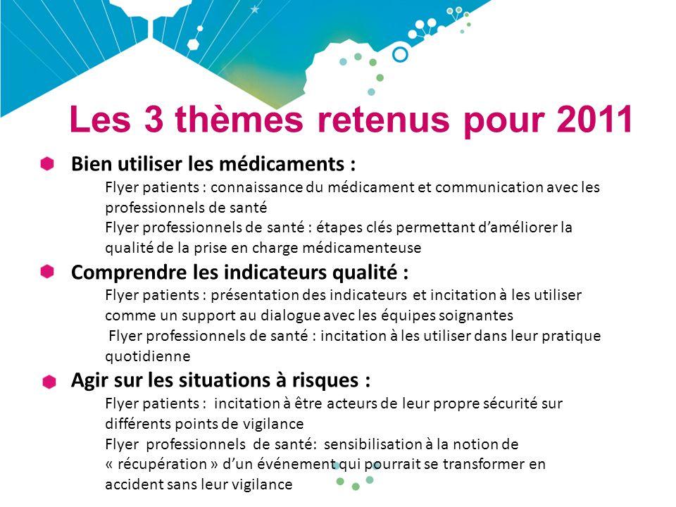 Les 3 thèmes retenus pour 2011