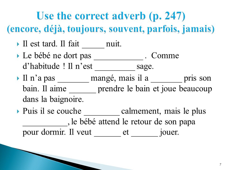 Use the correct adverb (p