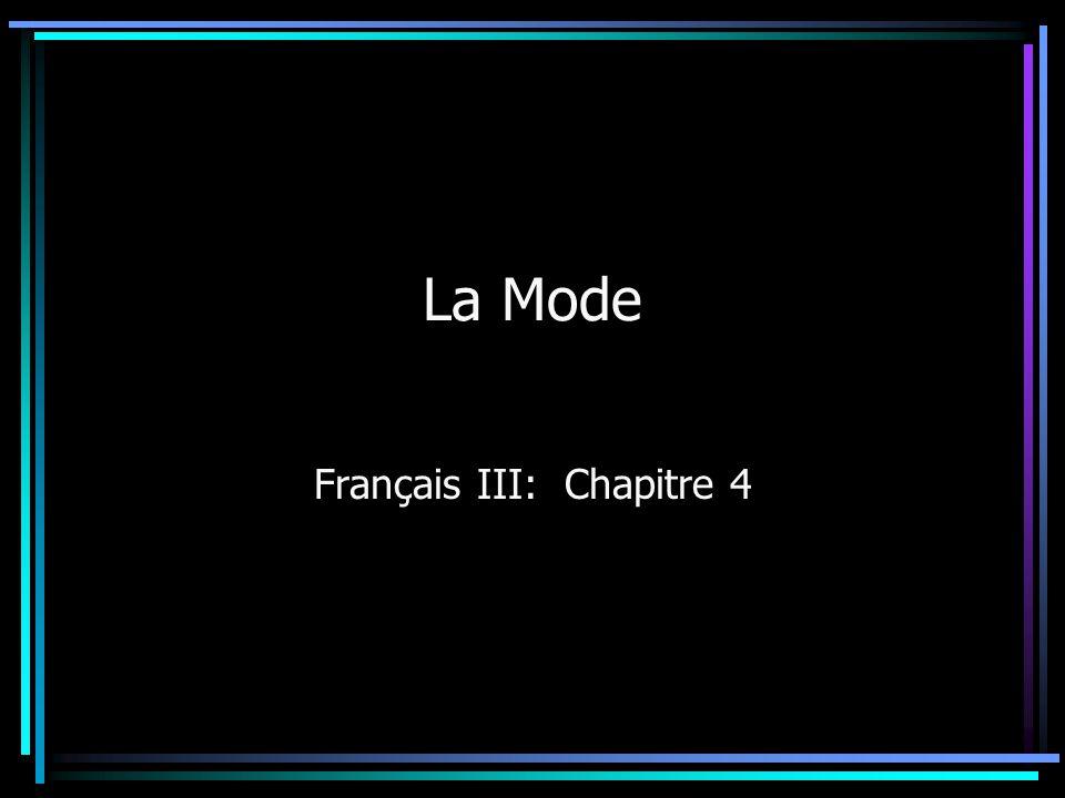 Français III: Chapitre 4