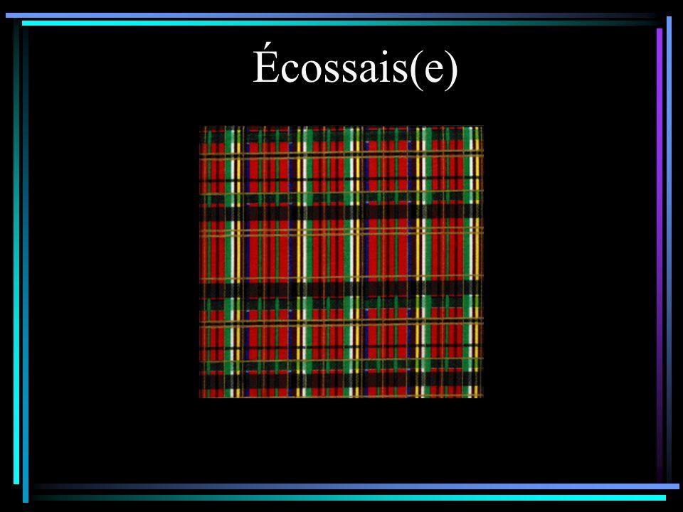 Écossais(e)