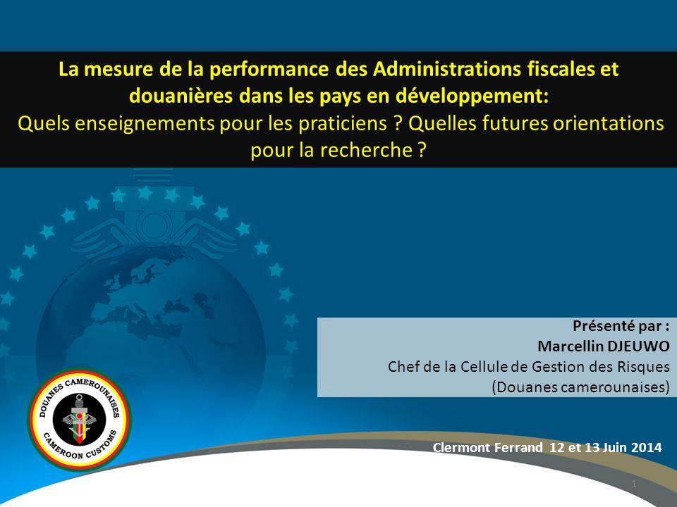 La mesure de la performance des Administrations fiscales et douanières dans les pays en développement: