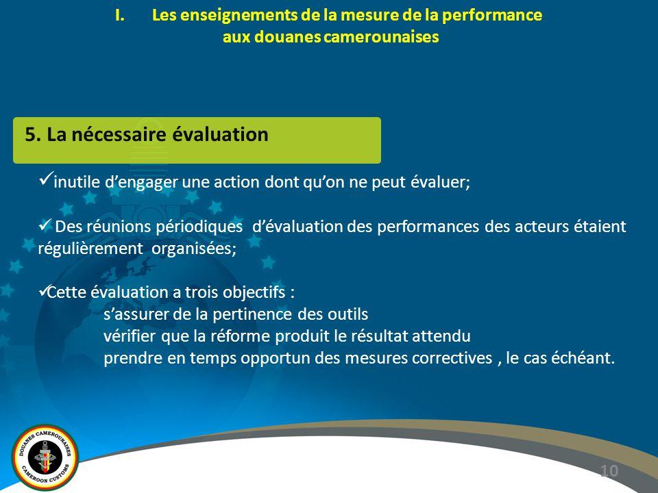5. La nécessaire évaluation