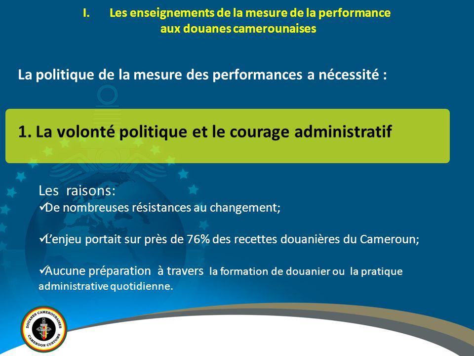 La volonté politique et le courage administratif