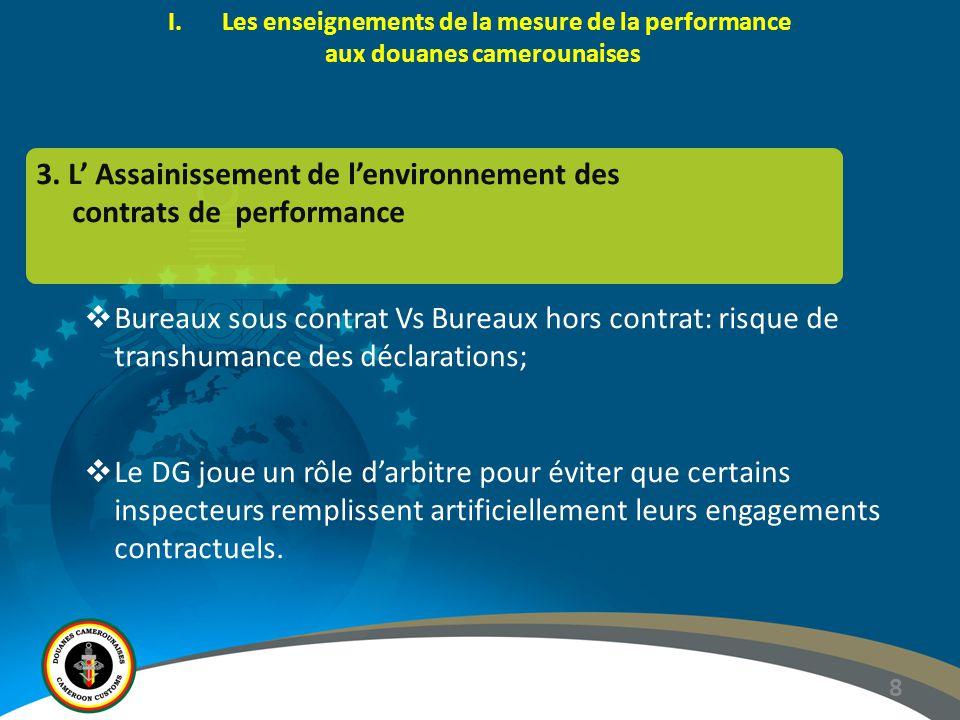 3. L' Assainissement de l'environnement des contrats de performance