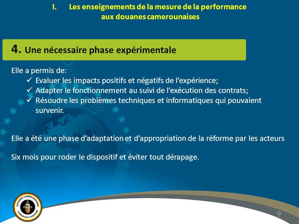 4. Une nécessaire phase expérimentale