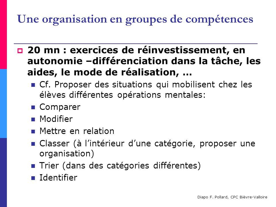 Une organisation en groupes de compétences