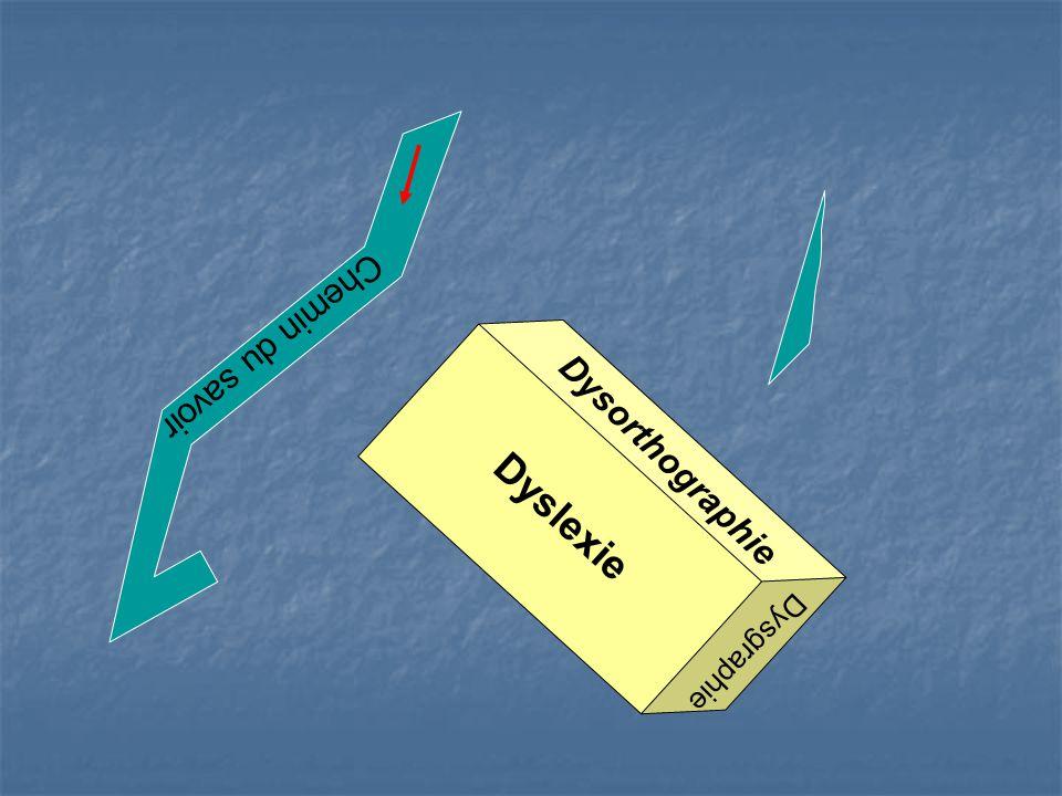 Chemin du savoir Dyslexie Dysorthographie Dysgraphie