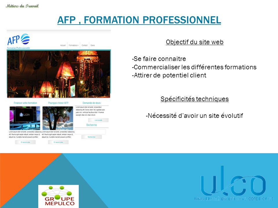 AFP , Formation professionnel
