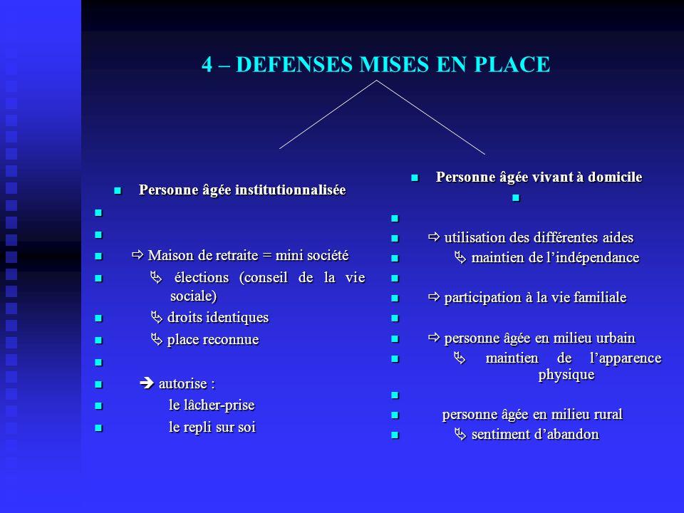 4 – DEFENSES MISES EN PLACE