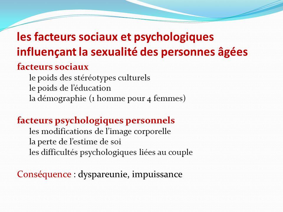 les facteurs sociaux et psychologiques influençant la sexualité des personnes âgées
