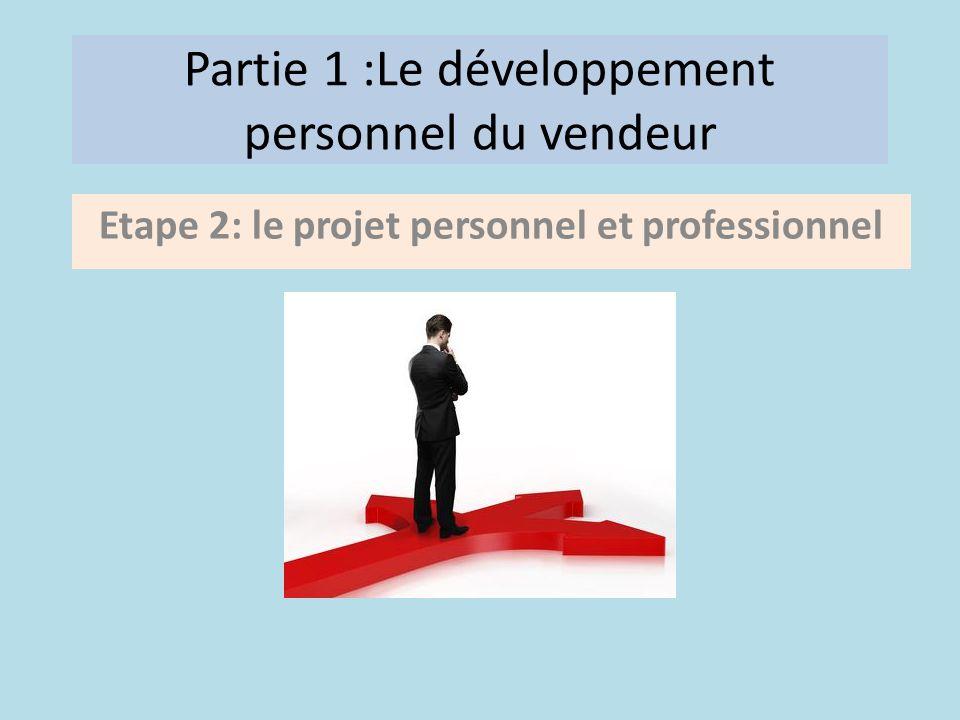 Partie 1 :Le développement personnel du vendeur