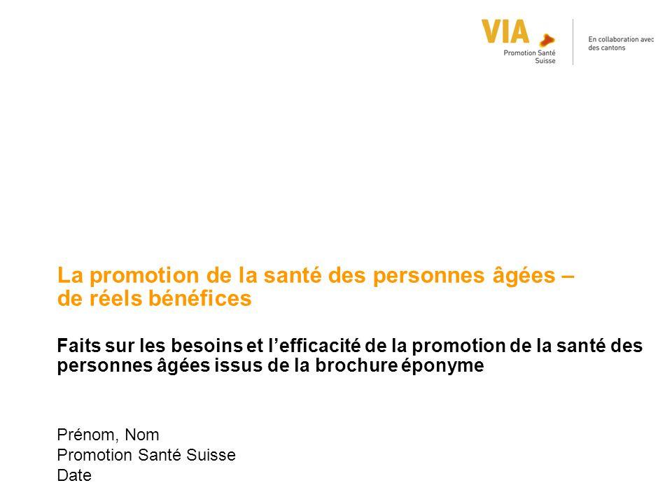 Prénom, Nom Promotion Santé Suisse Date