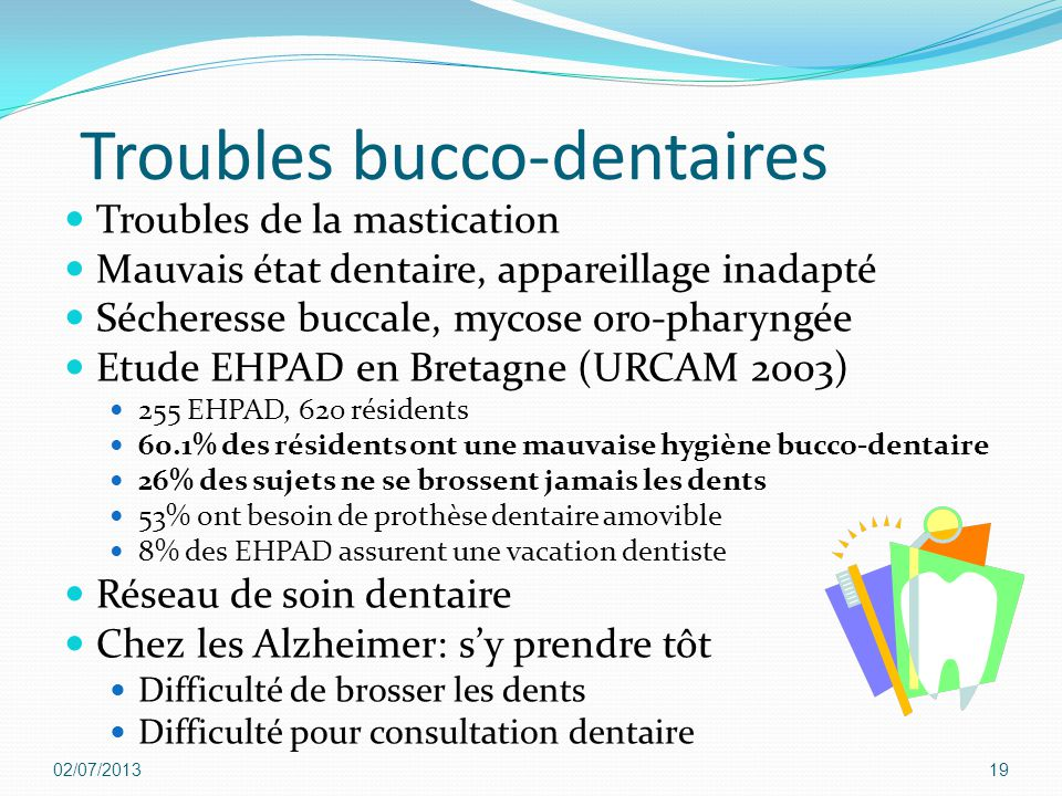 Troubles bucco-dentaires