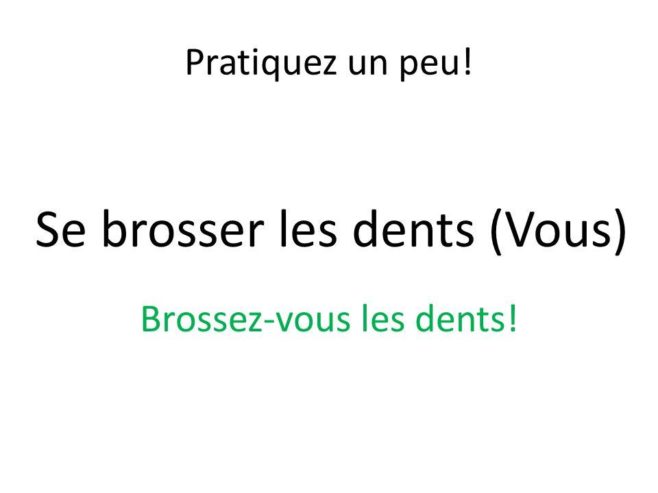 Se brosser les dents (Vous)