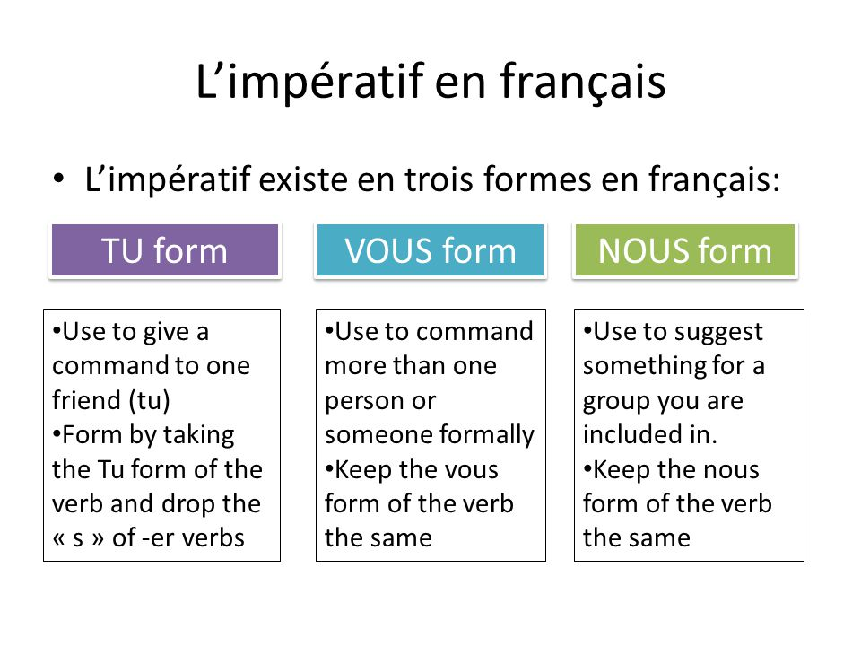 nous form of essayer French verbs: l'imparfait  and take the nous form parler (to speak), for example, conjugates as nous parlons at this point, you drop the -ons at the end, and .