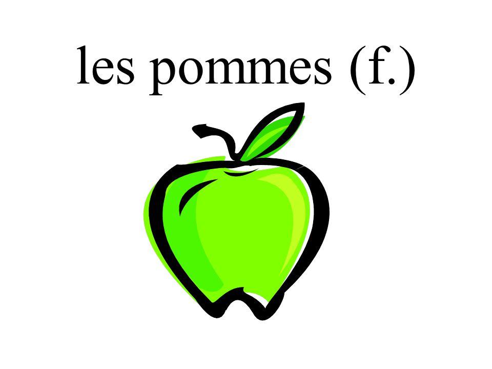 les pommes (f.)