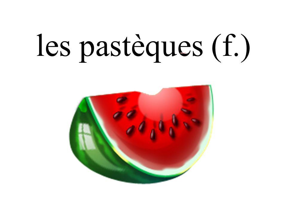 les pastèques (f.)