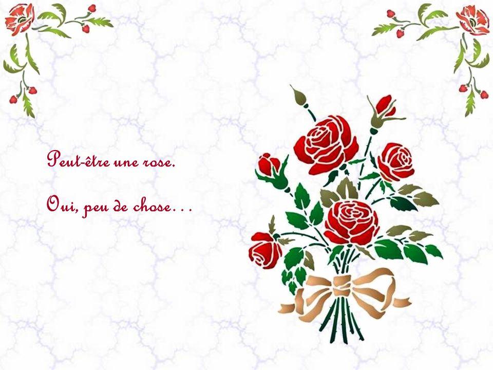 Peut-être une rose. Oui, peu de chose…