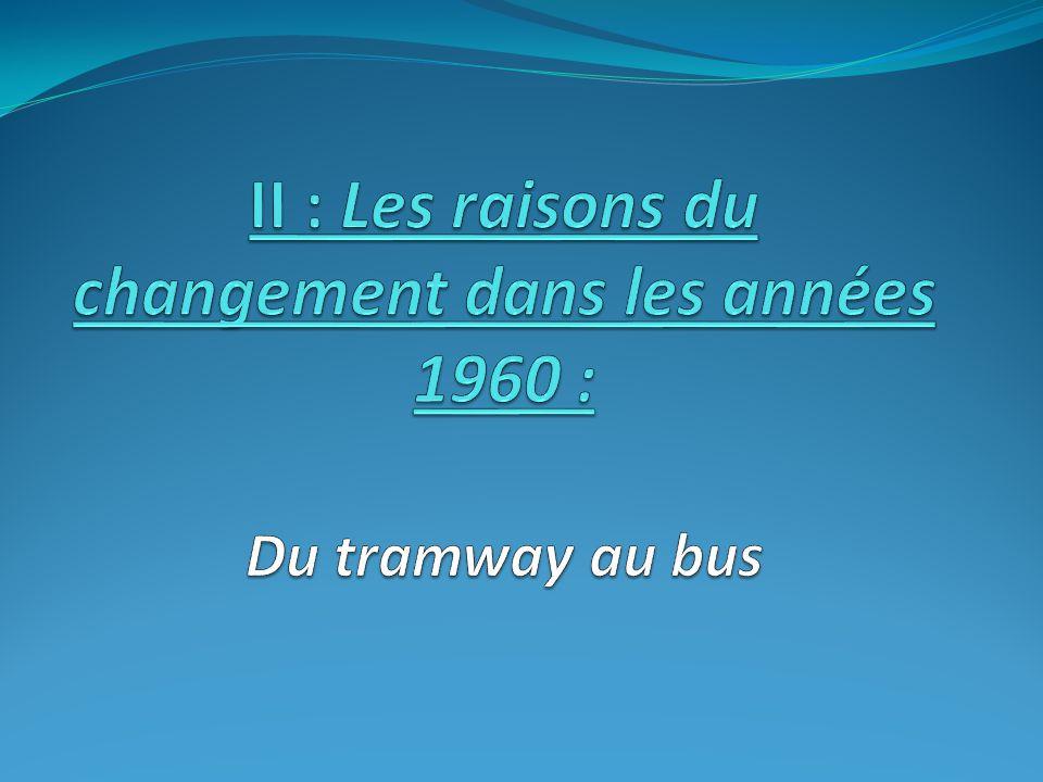 II : Les raisons du changement dans les années 1960 : Du tramway au bus