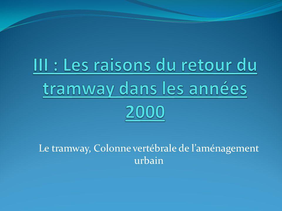 III : Les raisons du retour du tramway dans les années 2000