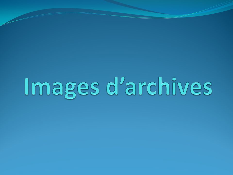 Images d'archives