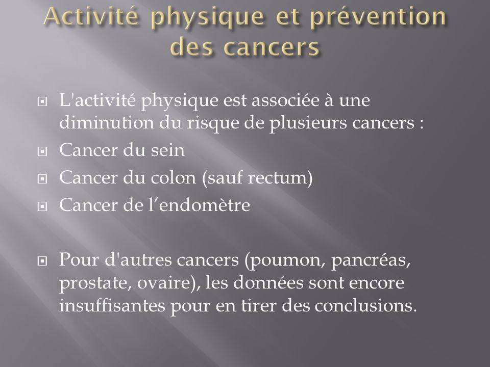 Activité physique et prévention des cancers