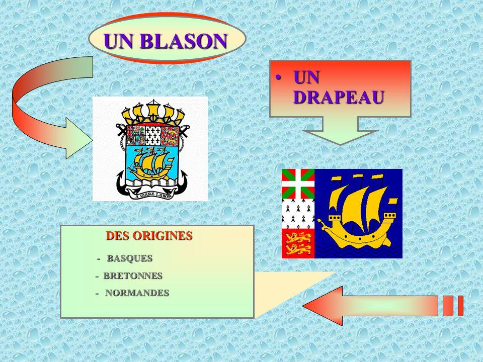 UN BLASON UN DRAPEAU DES ORIGINES - BASQUES - BRETONNES - NORMANDES