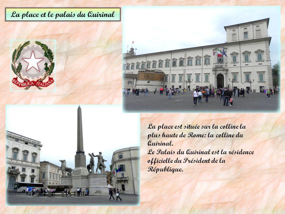 La place et le palais du Quirinal