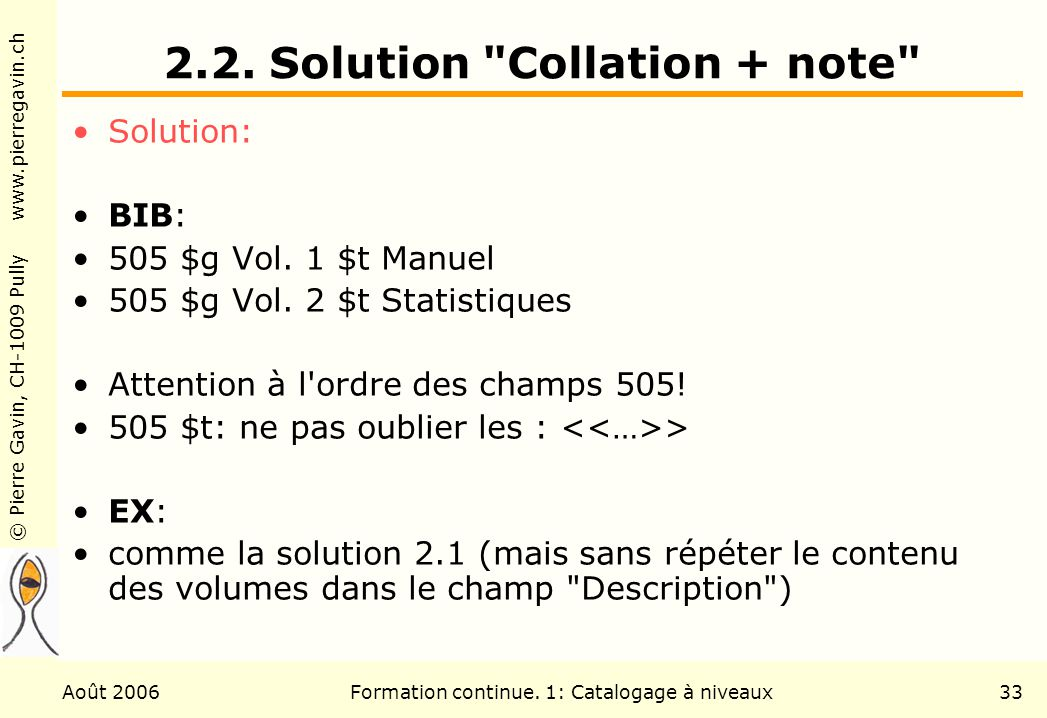2.2. Solution Collation + note