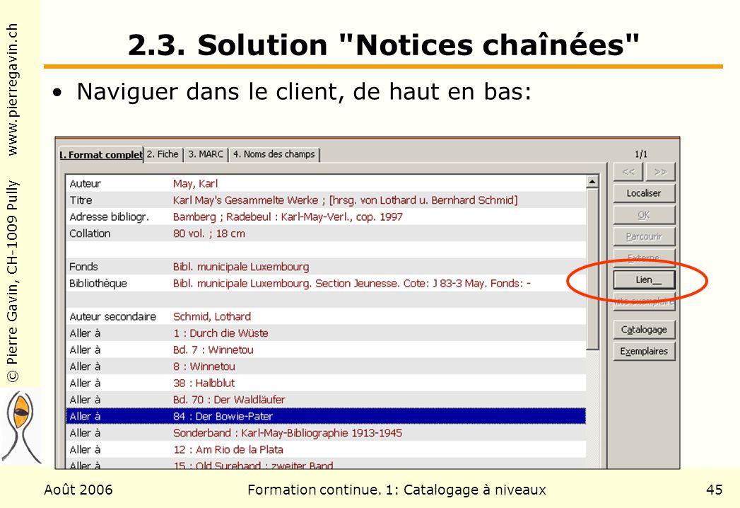 2.3. Solution Notices chaînées