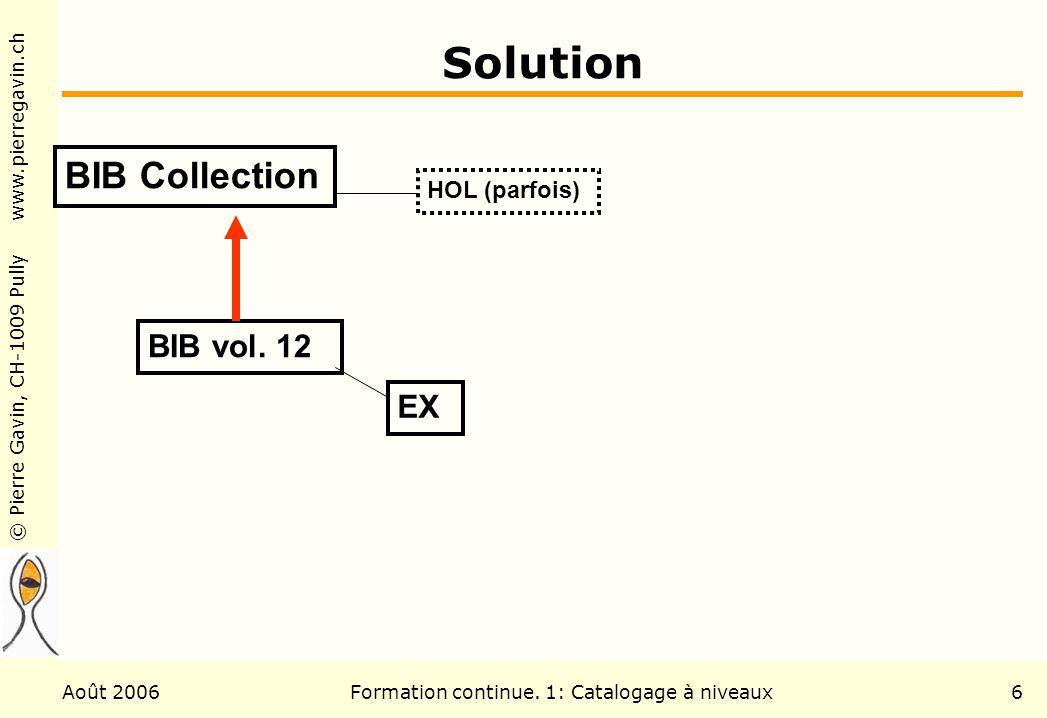 Formation continue. 1: Catalogage à niveaux