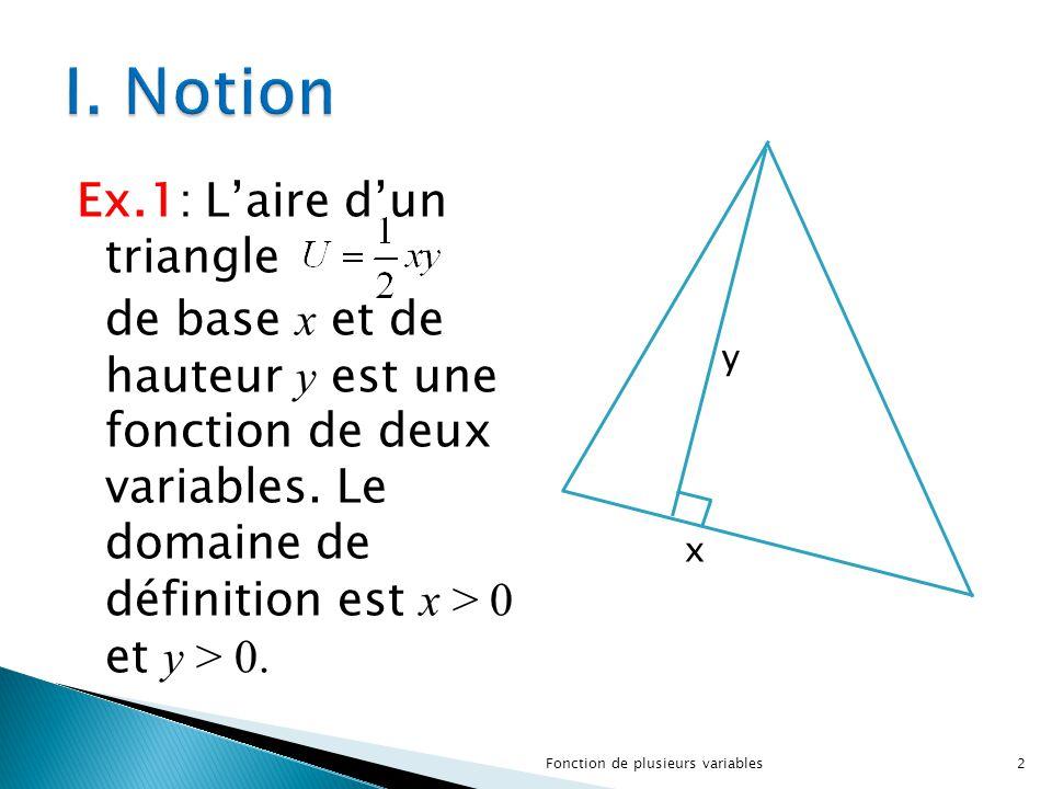 I. Notion y. x.