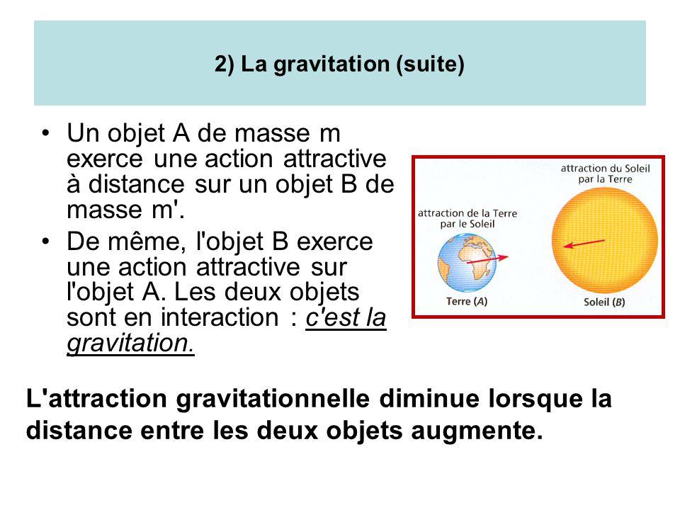 2) La gravitation (suite)