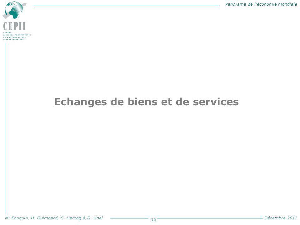Echanges de biens et de services
