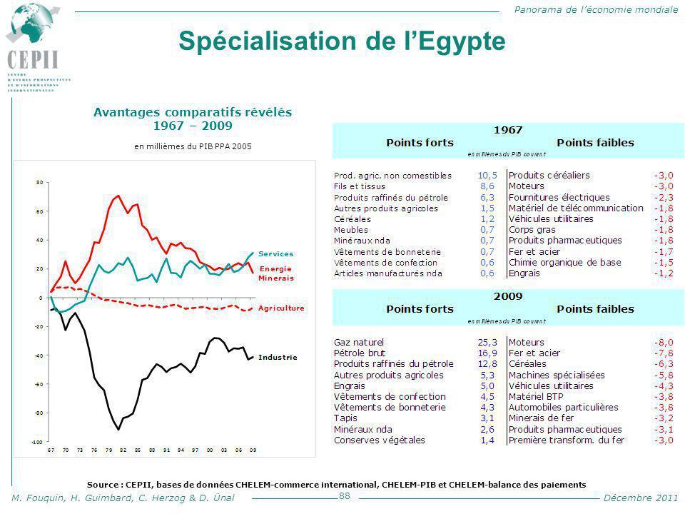 Spécialisation de l'Egypte