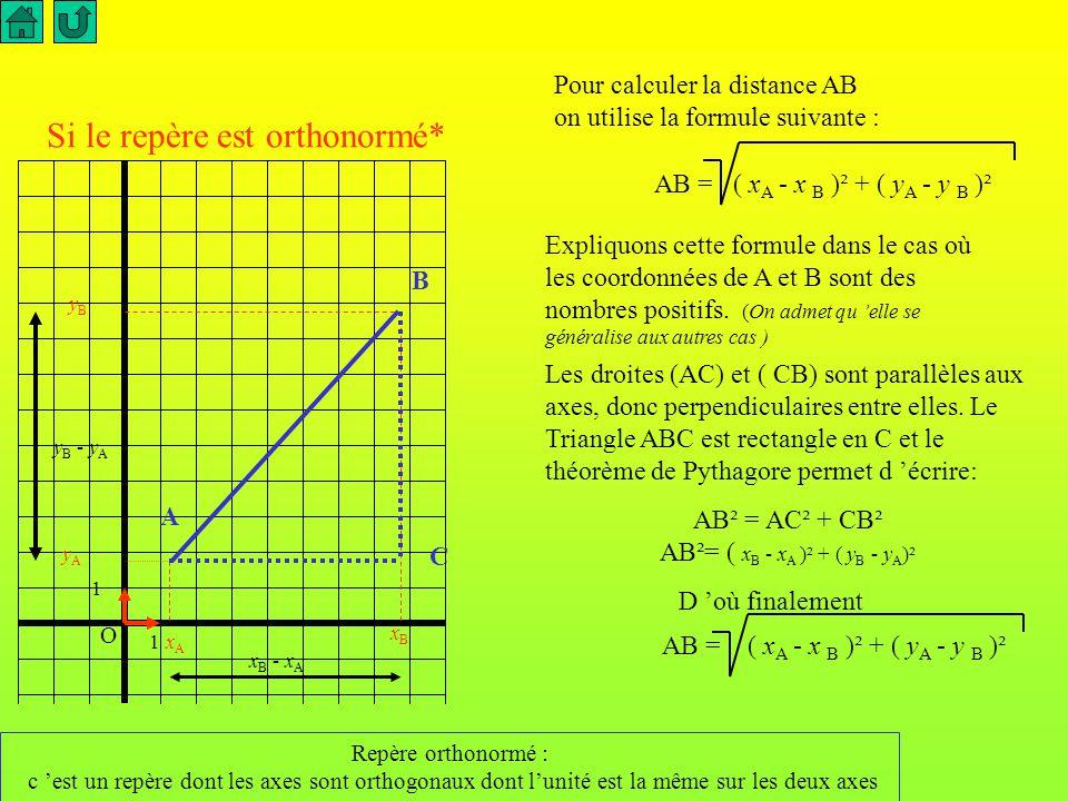 AB²= ( xB - xA )² + ( yB - yA)²